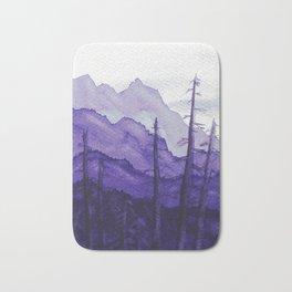 Tonal Mountain Study 2 Purple Bath Mat