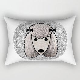 Poodle Dog Rectangular Pillow