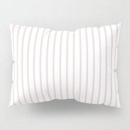 Alice Pink Pinstripe on White Pillow Sham