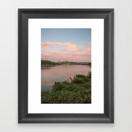 Kansas City at Sunset Framed Art Print
