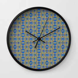 Ironwork - Dark Blue 2 Wall Clock