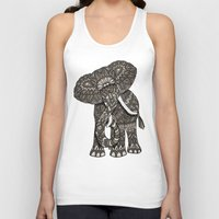 ornate Tank Tops featuring Ornate Elephant by ArtLovePassion