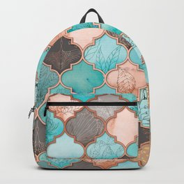Moroccan pattern artwork print Backpack