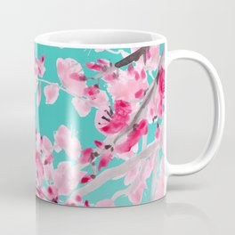 Cherry Blossom Aqua Coffee Mug