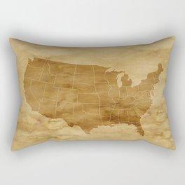 United States USA Vintage Map Rectangular Pillow
