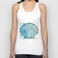 shell Tank Tops featuring Shell by Bryan McKinney