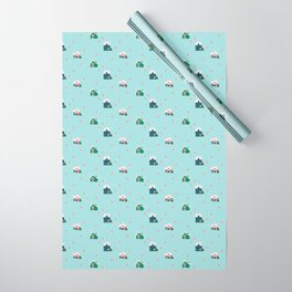 holiday neighborhood Wrapping Paper