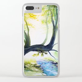 Forest Light 20 Clear iPhone Case
