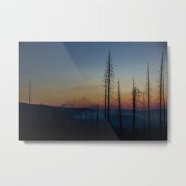 Firey skies Metal Print