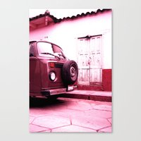 vw bus Canvas Prints featuring VW Bus 17B by Julia Aufschnaiter