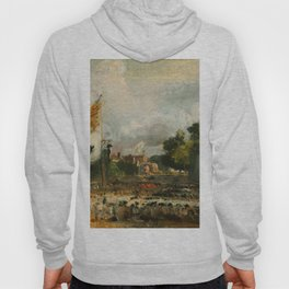 """John Constable """"The Celebration in East Bergholt of the Peace of 1814 (Concluded in Paris between France and the Allied Powers)"""" Hoody"""
