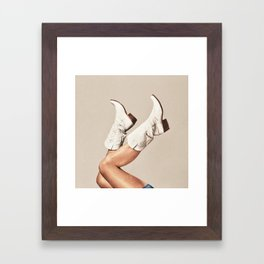 These Boots - Neutral Framed Art Print