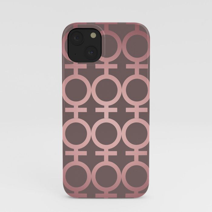 Feminist As Fuck Pink Gradient Vector Pattern iPhone Case