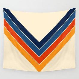 Colorful V Shape Retro Stripes Chilseongsin Wall Tapestry