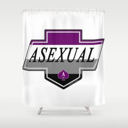 Identity Stamp: Asexual Shower Curtain