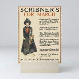 locandina scribners for march. 1899 Mini Art Print