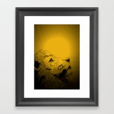 Dont Tame A King ~ Warmness Framed Art Print