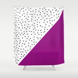 Geometric grey and purple design Shower Curtain
