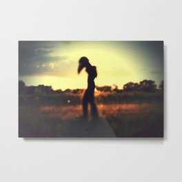 Walker on the Plains Metal Print