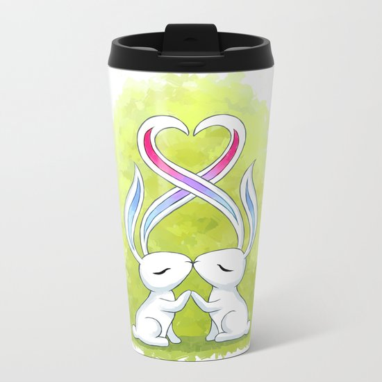 Bunny Kiss Metal Travel Mug