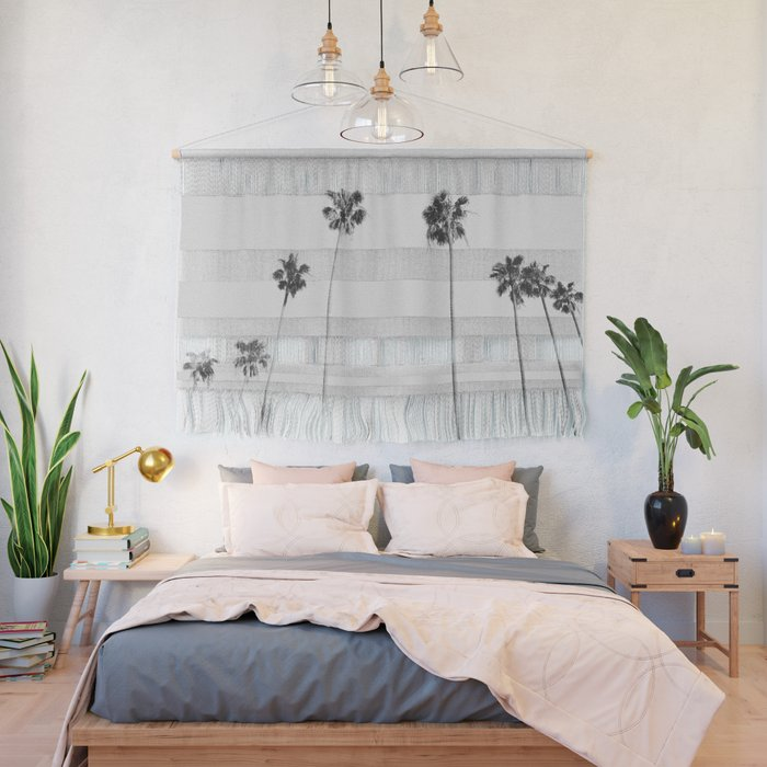 Black & White Palms Wall Hanging