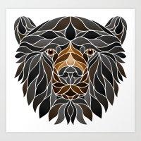Black Bear Lineless Art Print