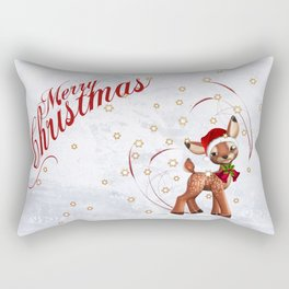 Merry Christmas in red 2 Rectangular Pillow