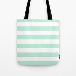 Stripe Horizontal Mint Green Tote Bag