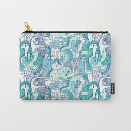 Zoo Creatures Pattern Print Carry-All Pouch