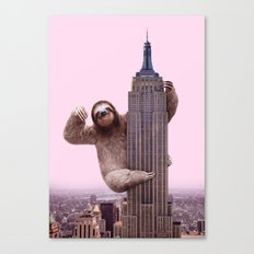 KING SLOTH Canvas Print