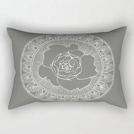 Rose Mandala Rectangular Pillow