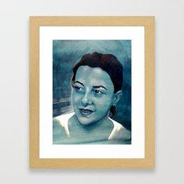 Girl protrait Framed Art Print