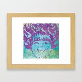 Big Hair Framed Art Print