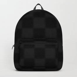 Black and grey chequered pattern Backpack