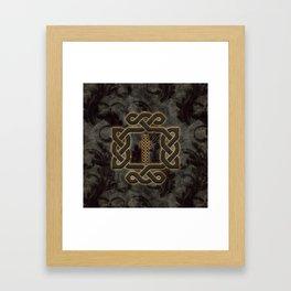 Decorative celtic knot, vintage design Framed Art Print