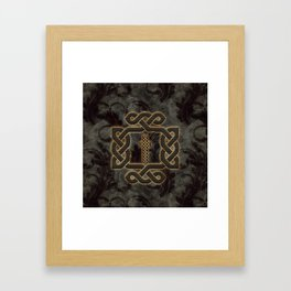 Decorative celtic knot, vintage design Framed Art Print