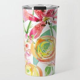 Bold Florals Travel Mug
