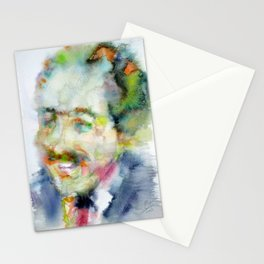 LANGSTON HUGHES - watercolor portrait Stationery Cards