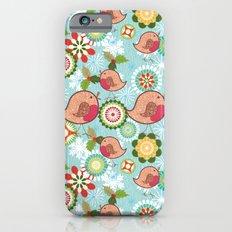 Xmas Robins Slim Case iPhone 6s