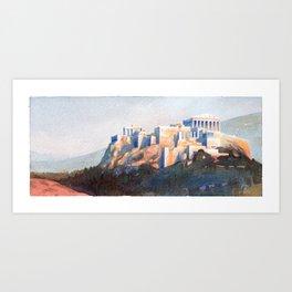 The Acropolis Art Print