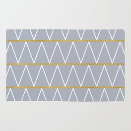 Gold and grey zigzag Rug