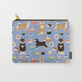 Shiba Inu noodles pho food cute dog art sushi dogs pet portrait pattern Carry-All Pouch