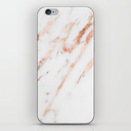 Pink Quartz Marble Rose Gold White iPhone Skin