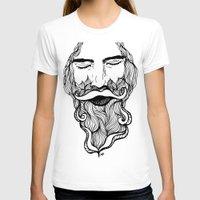 beard T-shirts featuring Beard  by Holly Harper