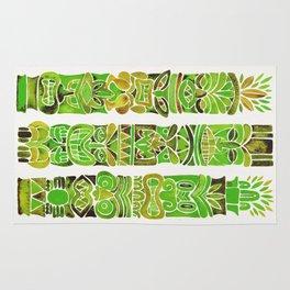 Tiki Totems – Green Rug