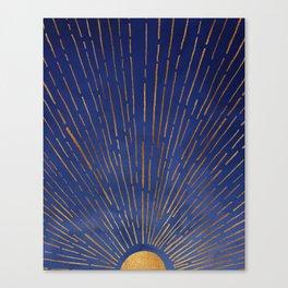 Twilight / Blue and Metallic Gold Palette Canvas Print