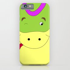Cute female snake in love children's illustration iPhone 6s Slim Case