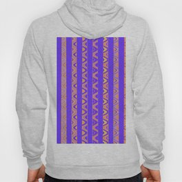Contemporary African Style Abstract Stripes Hoody