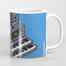 Electronic music altar — isometric pixel art Coffee Mug