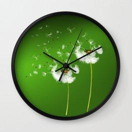 Pusteblumen - dandelions Wall Clock